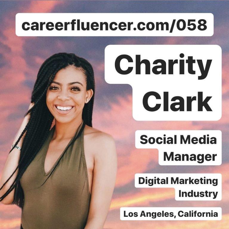 Charity Clark Social Media Manager Career Podcast Episode Careerfluencer