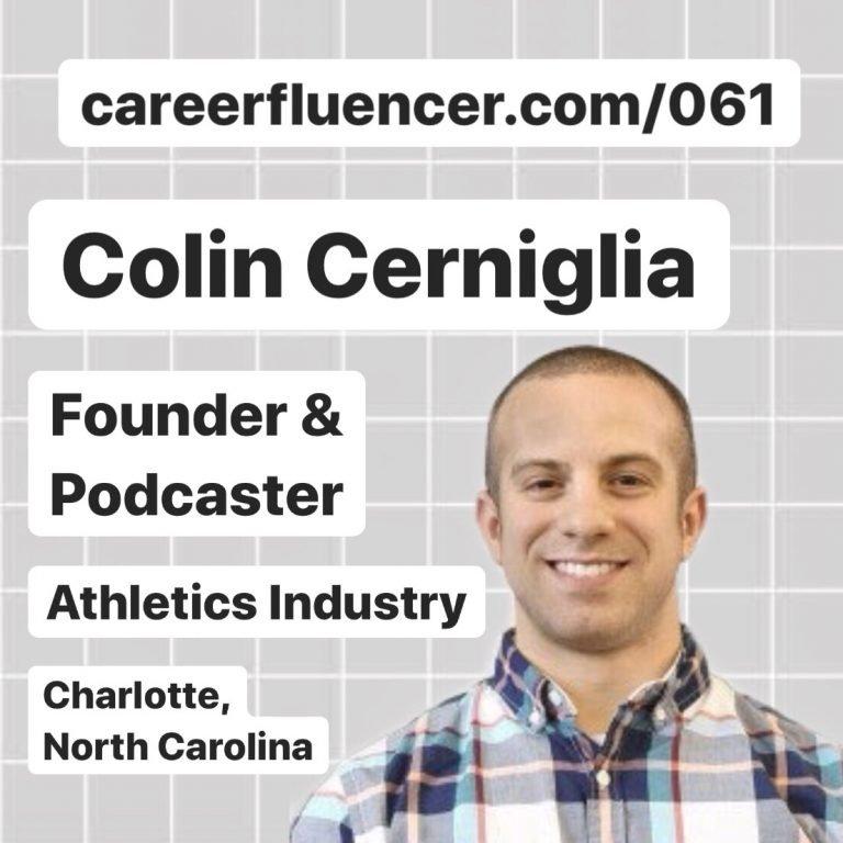 advice student athletes career podcast episode colin cerniglia careerfluencer