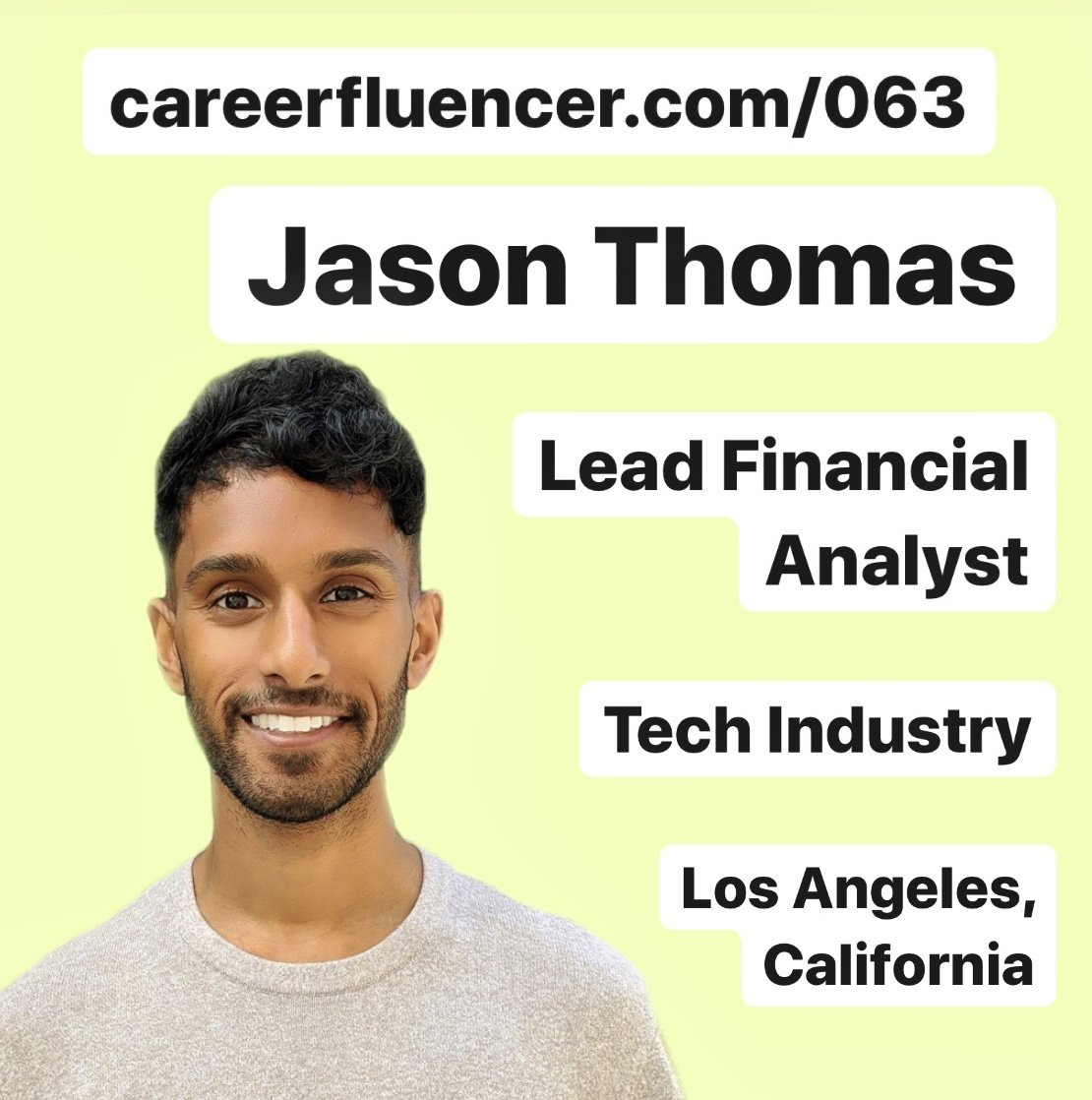 Competitive Career Paths Startup Podcast Episode Jason Thomas Tech Industry California Careerfluencer