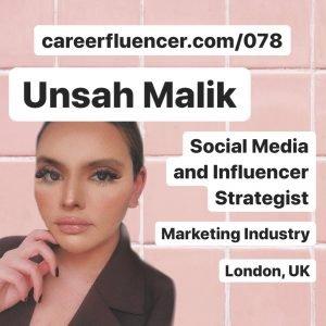 Unsah Malik Careerfluencer Podcast Episode