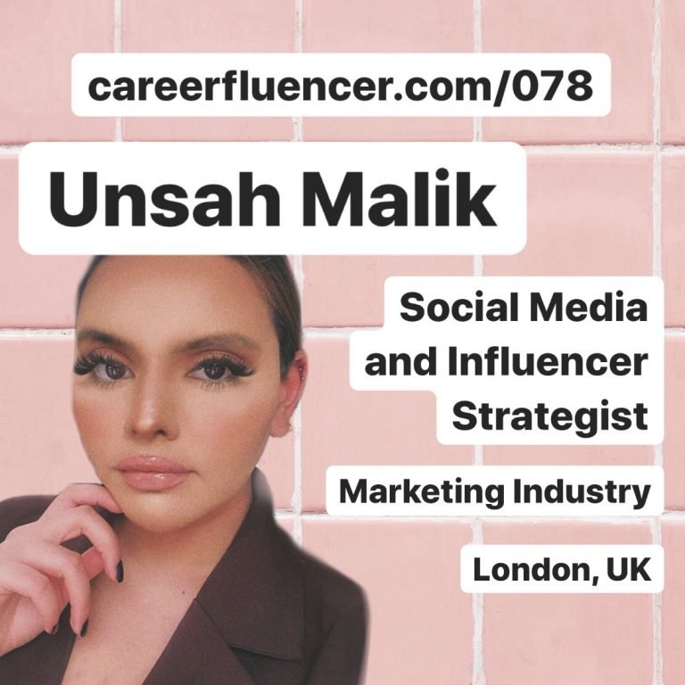 Unsah Malik Careerfluencer Podcast Episode