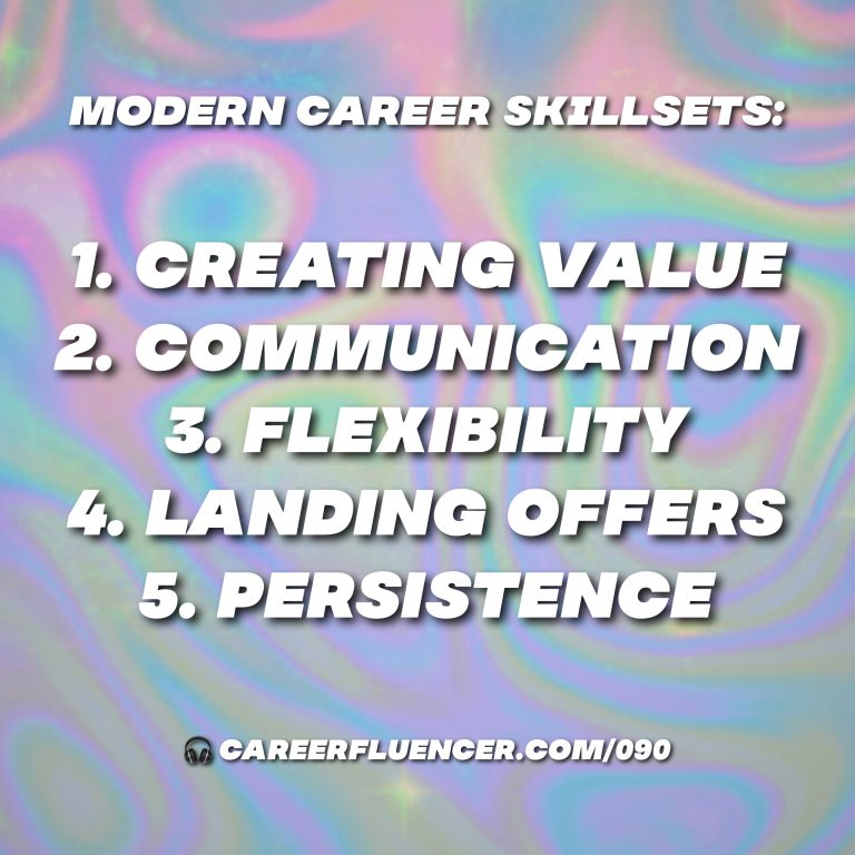 modern career skillsets podcast episode careerfluencer