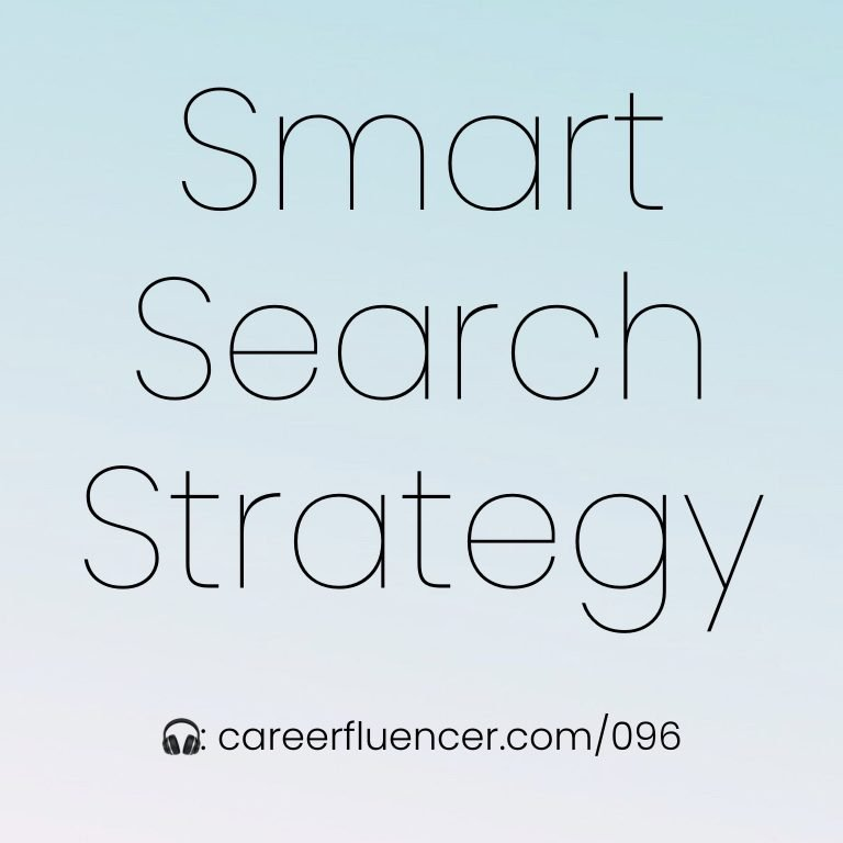 smart job search strategy podcast episode careerfluencer cynthia heisch