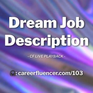 dream job description cover art