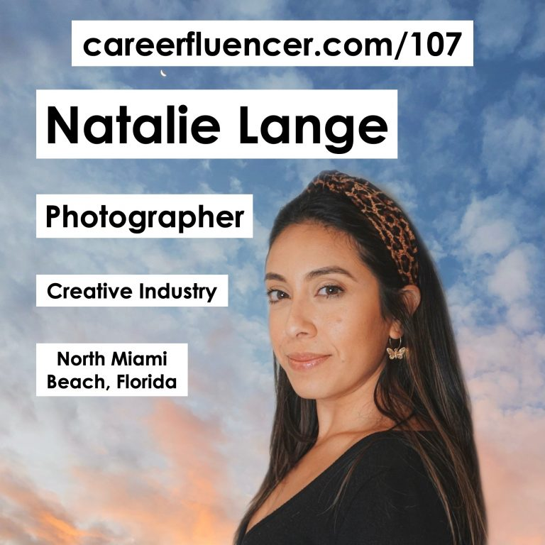 natalie lange careerfluencer photographer creative industry podcast